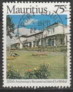 Mauritius 1978 The 200th Anniversary Of Reconstruction Of Chateau Le Réduit 75c Multicoloured SW 487 O Used - Mauritius (1968-...)