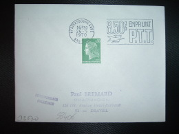 L. TP M.DE CHEFFER 0,30 OBL.MEC.26-5-1970 STRASBOURG GARE (67 BAS-RHIN) 8,50% EMPRUNT PTT - Marcophilie (Lettres)
