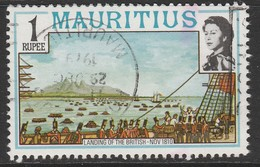 Mauritius 1978 Maps And Historical Events 1R Multicoloured - Mauritius (1968-...)