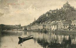 Saarburg - Flussansicht Mit Boot 1909 (001253) - Saarburg