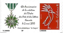 NOUVELLE CALEDONIE (New Caledonia)- Timbre Personnalisé - 2017 - Médaille (medal) - New Caledonia