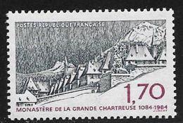 TIMBRE N° 2323   FRANCE - NEUF -  MONASTERE DE LA GRANDE CHARTREUSE  -  1984 - France