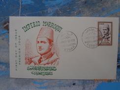 MOROCCO FDC OVERPRINT UK 1957 - Marruecos (1956-...)