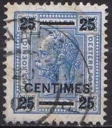 CRETE 1903-04 Austrian Office Stamps Of 1899 With Black Overprint 25 Centimes / 25 H Blue Vl. 3 - Kreta