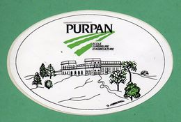 PURPAN ECOLE SUPERIEUR D AGRICULTURE /  AUTOCOLLANT - Autocollants