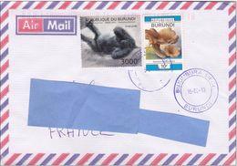 Z] Enveloppe Cover Burundi Gorille Gorilla - Gorilles
