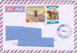 Z] Enveloppe Cover Burundi Guêpe Wasp Vespa Orientalis Insecte Insect - Insectes