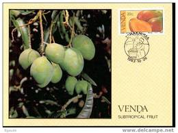 VENDA   CARTE MAXIMUM NUM.YVERT 83 FRUITS SUBTROPICAUX - Venda