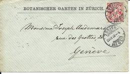 61A, Type Chiffre Et Croix, 10 C Carmin, Obl. 22.IV.92 - 1882-1906 Armoiries, Helvetia Debout & UPU