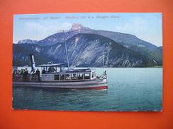 Salzkammergut.Am Mondsee.Schafberg 1780 M U.Dampfer Helene - Passagiersschepen