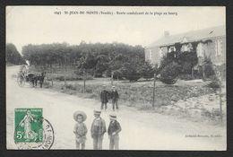 ST JEAN De MONTS Route Conduisant De La Plage Au Bourg (Artaud Nozais) Vendée (85) - Saint Jean De Monts