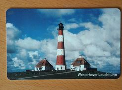 Germany Phonecard With Chip Lighthouses Westerhever Leuchtturm - Lighthouses