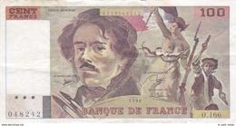 FRANCE BILLET DE 100 FRANCS EUGENE DELACROIX DE 1990 ALPHABET O.166 - 100 F 1978-1995 ''Delacroix''