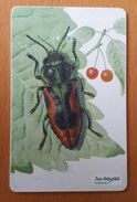 Czech Republic Phonecard With Chip Bugs Insects Cherry - Coccinelle