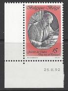 Belgique COB 2451 ** (MNH) - Date 25.III.92 - Dated Corners