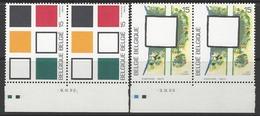 Belgique COB 2452 à 2453 ** (MNH) - Date -3 Et -9.IV.92 - Dated Corners