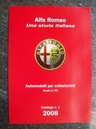 CATALOGO  N°1  2008   M4  AUTOMODELLI  In Scala 1/43  ALFA  ROMEO. Scala 1/43 - Catalogues