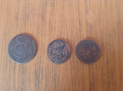 TTB Lot India Batav 1808  5 1/16 / 5 1/32. Et Superbe 1/2 Cent 1859 - Indes Néerlandaises