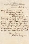 United States, Cincinnati, Abner L. Frazer &Co, Wholesale Grocers And Commission Merchants 1875 - Etats-Unis