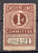 Fiscaux Fiscal Revenue Cheshire Lines Newspaper Parcel Colis - Groot-Brittannië
