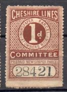 Fiscaux Fiscal Revenue Cheshire Lines Newspaper Parcel Colis - Grande-Bretagne
