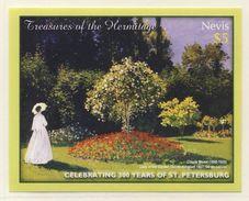 """Nevis 2004 Mi B238 ** """"Lady In The Garden"""" (1867) By Claude Monet / Gemälde - Hermitage - Impressionisme"""