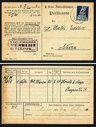 A4842) DR Eilgut-Karte D. Bayerischen Staatseisenbahn 1921 - Deutschland
