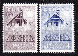 Europa Cept 1957 Belgium 2v ** Mnh (36677) - Europa-CEPT
