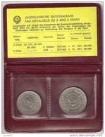 Yugoslavia FAO Fiat Panis 1970. UNC Mint Set: 2 And 5 Dinara. In Original Folder. - Jugoslavia