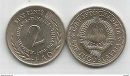 Yugoslavia 2 Dinara 1970. UNC FAO Fiat Panis  KM#55 - Joegoslavië