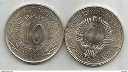 Yugoslavia 10 Dinara 1976. UNC FAO Fiat Panis KM#63 - Joegoslavië