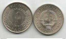 Yugoslavia 1 Dinar 1976.UNC FAO Fiat Panis KM#61 - Joegoslavië