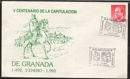 A) 1992 SPAIN, GRANADA, BOADIL, KING, ROYALTY, 5 CENTENARY OF THE CAPITULATION, SOUVENIR SHEET. - 1931-Today: 2nd Rep - ... Juan Carlos I