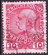 CRETE 1908-14 Austrian Office Glossy Paper 10 Centimes Red / Rose Vl.18 - Kreta