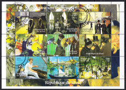 Tchad 2001 Le Mouvement Impressionste En France  9v In Shtlt Used (cto) (F6599A) - Tsjaad (1960-...)