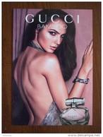 GUCCI Bamboo Parfum Carte Size Carte Postale 10,5 X 14,5 - Modern (from 1961)