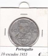 PORTOGALLO   10 ESCUDOS   ANNO 1955  COME DA FOTO - Portogallo