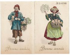 CPA - LOT 2 CARTES FANTAISIES - Homme Et Femme Portant Des Cochons - Fancy Cards