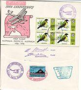 Honara Solomon 1976 - 50th Anniversary Flight To Australia - Recto-verso - Solomon Islands (1978-...)