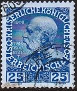 CRETE 1908-14 Austrian Office 25 C Ultramarine / Blue Glossy Paper Vl. 20 - Kreta