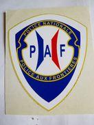 RARE AUTOCOLLANT POLICE NATIONALE La Paf TRES BON ETAT 70mm X 55mm - Police & Gendarmerie
