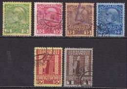 CRETE 1908-14 Austrian Office Stamps Of 1908  Glossy Paper Used Set  Vl.17 / 22 - Kreta