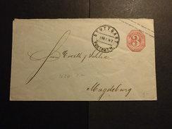 Württemberg Mi. GA U 20 Von Stuttgart Postamt (DK) Nach Magdeburg S.scan - Wuerttemberg