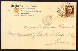 DCC069 - REGNO - CARTOLINA POSTALE - DA VITERBO PER ROMA 27 5 1930 DIREZIONE POSTALE 23 - Marcofilía
