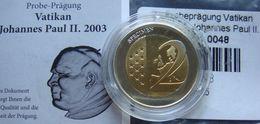 Vatican 2 Euro Specimen 2003 Civitas Vaticana - Proof, Certificate - Vatikan