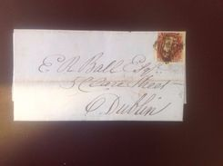 Great Britain 1841 1d Red SG8 On Waterford-Dublin Cover - 1840-1901 (Victoria)