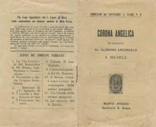 Libro Antico Corona Angelica In Onore A S,Michele Arcangelo Santuario S.Cuore Busto Arsizio Imprimatur 1905 - Old Books