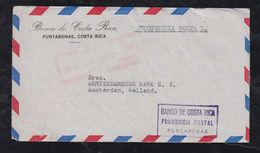 Costa Rica 1954 Postage Paid Franquicia Postal AIRMAIL Cover PUNTARENAS To AMSTERDAM Netherlands - Costa Rica