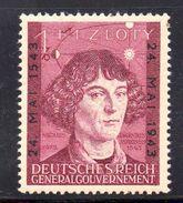 GENERAL GOUVERNEMENT.  AÑO 1943. Mi 104 (MNH) - Besetzungen 1938-45