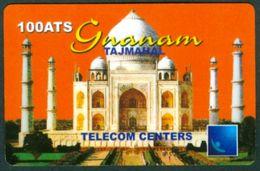 GERMANY  - TAJMAHAL - GNANAM - PRINTED BY TELECOM CENTERS  - 100 ATS - USED - Germany
